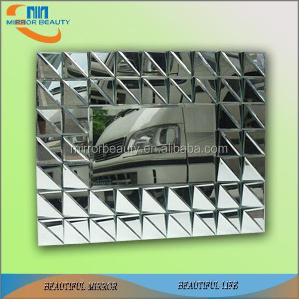 3d design d coratif miroir mural verre chine miroir usine for Miroir usine