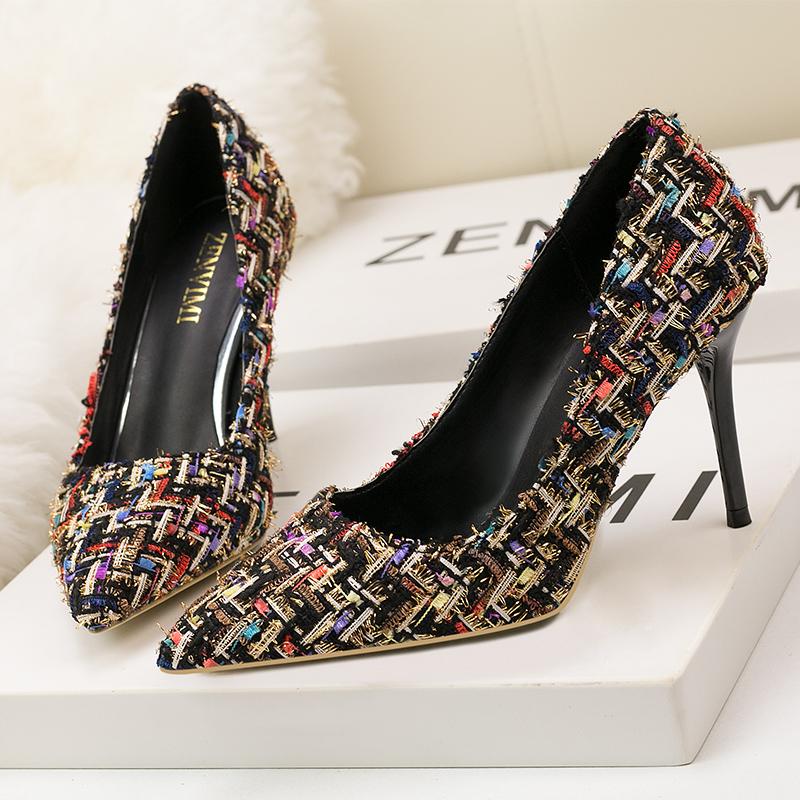 e5f7cec7 Últimas señoras knit zapatos diseños Etiqueta Privada fabricantes de  zapatos señoras bombas zapatos