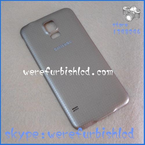 Бесплатная доставка оригинал новый задняя крышка для Samsung Galaxy S5 i9600 G900A G900T G900V батарейного отсека назад крышку корпуса сзади