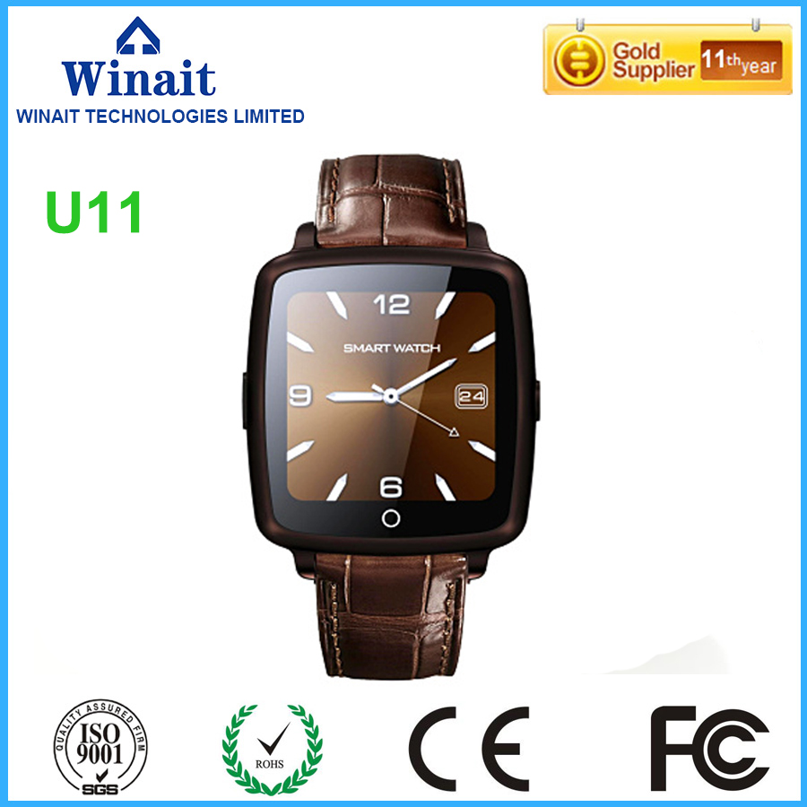 Winait 2017 cheap U11C smart watch with 1.54 LCD touch screen Video Player Sound recorder