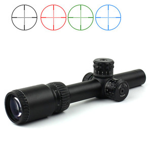 Military equipment ar15 optic hunting scope 1-6x20 riflescope three colors illuminated telescopic sight