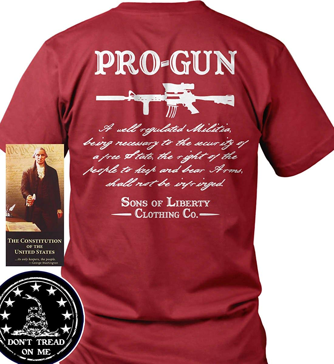 Sons of Libery Pro-Gun Second Amendment T-Shirt. Made in USA