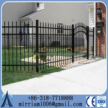 2015 Baochuan Cheap wrought iron fence panels for sale/Fence panels square tube/Galvanized steel pipe fence