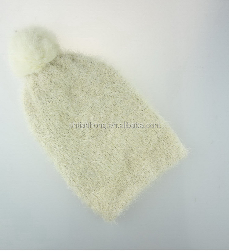 China supplier cost price knitted girl princess earflap hat