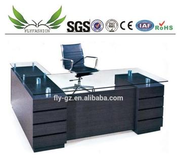Modern Office Furniture Export Executive Glass Table Manager Table