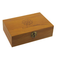 Custom Unfinished Timber Pine Gift Packaging Humidor