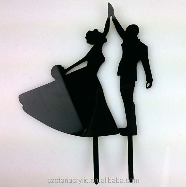First Dance Bride & Groom Acrylic Wedding Day Cake Topper