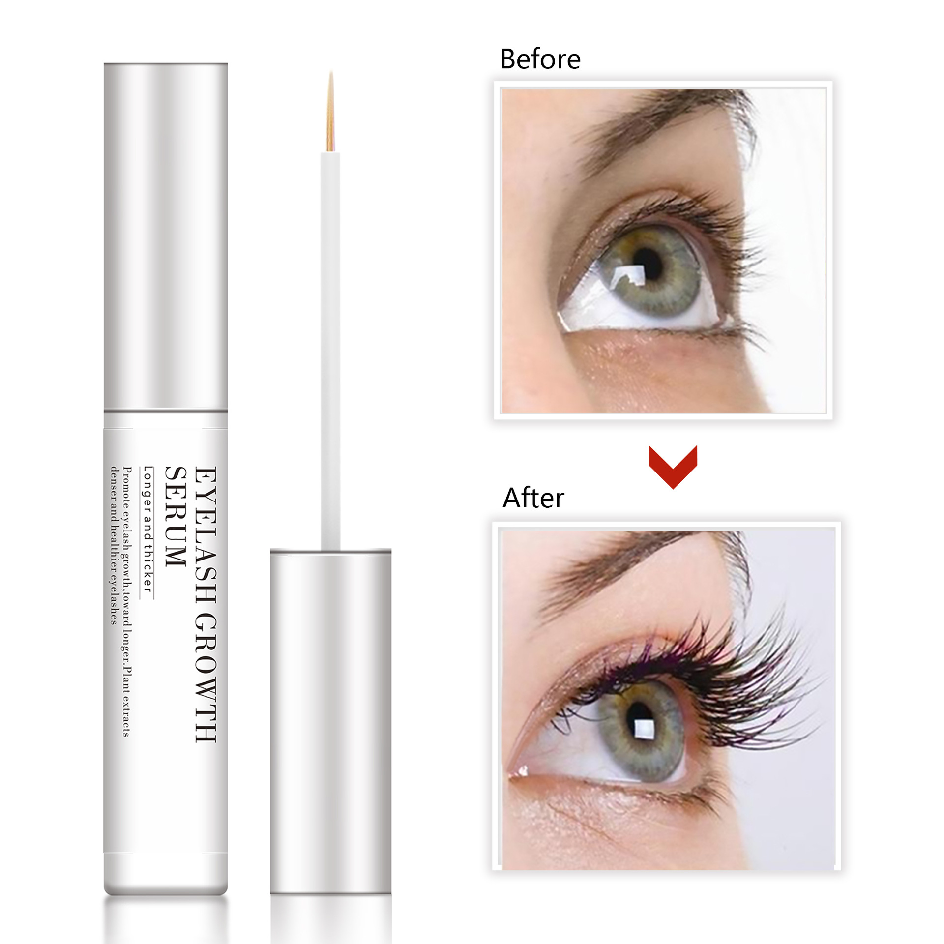 In Stock Amazon Hot Sell Factory Supply Natural Eyelash Extension
