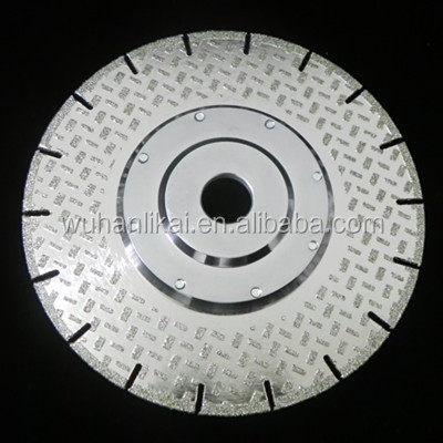 electroplated diamond saw blade with protection teeth