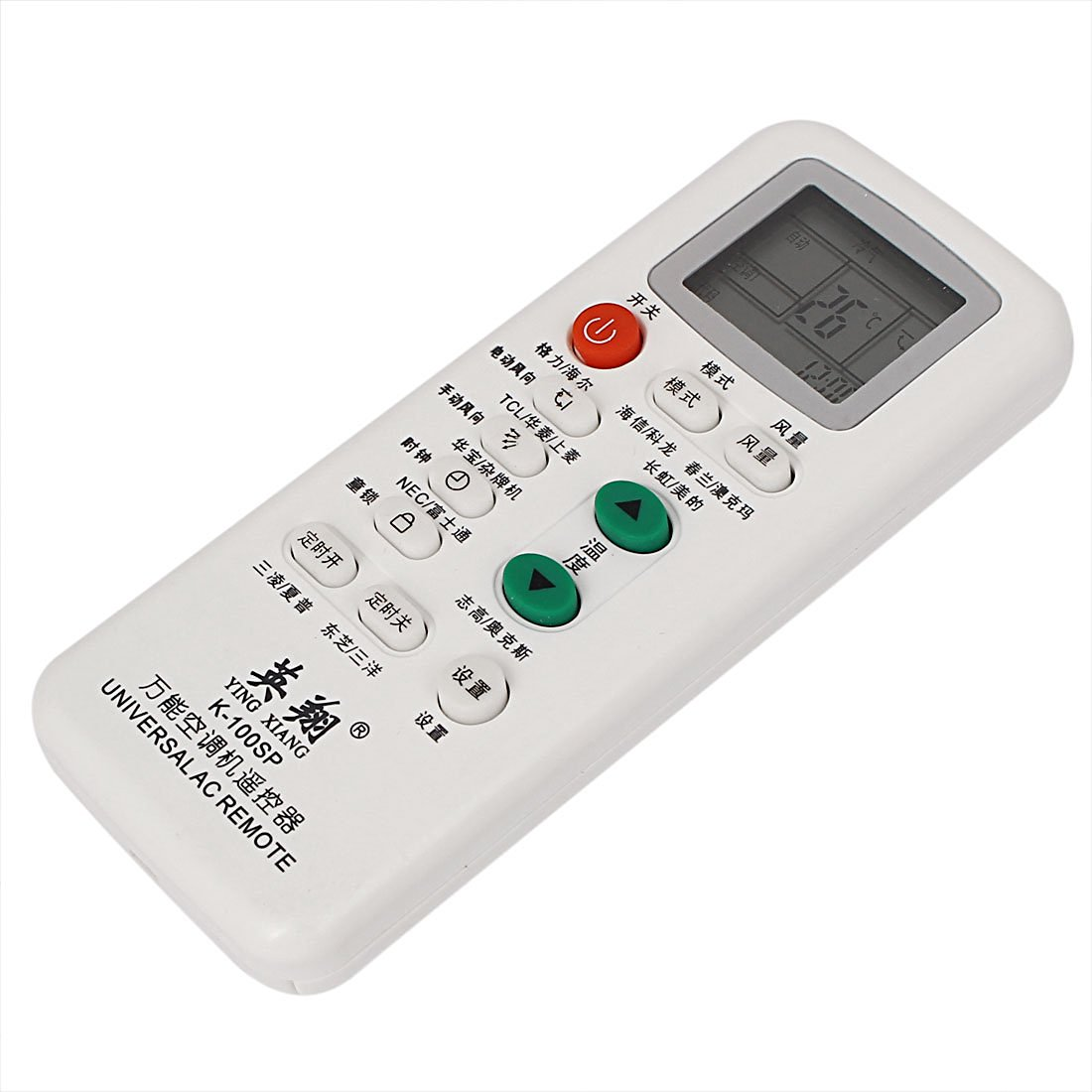 uxcell White Plastic Air Conditioner Remote Control Controller K-100SP
