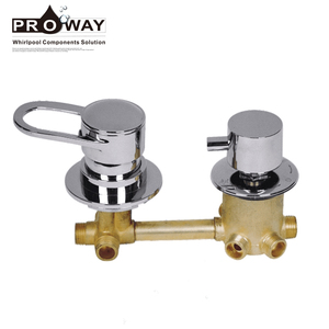 Sanitary Ware Bathroom Wall Mount Shower Mixer Valve 5 Way Shower Diverter