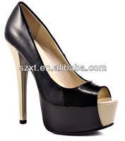 Elegant high heel shoes glaring shoes high heels fashion varnish pumps factory