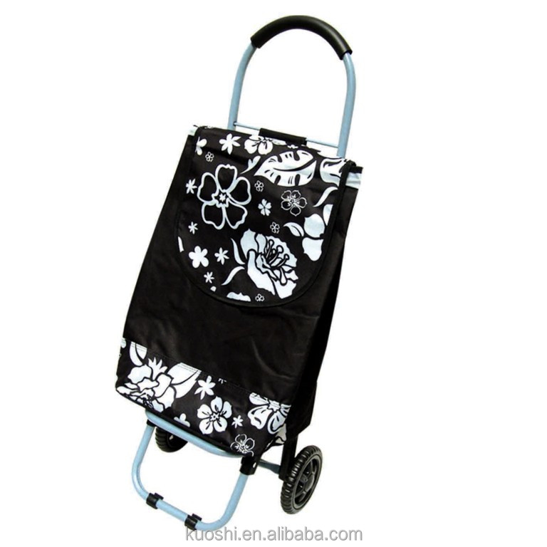 wheeled market foldable shopping trolley bag