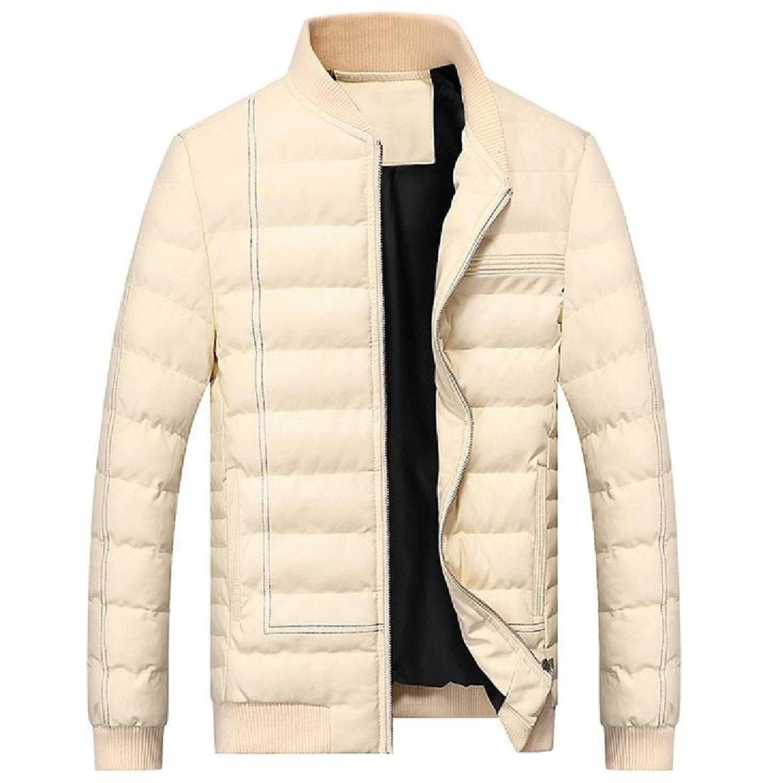 Kankanluck Men Oversized Basic Cotton Chinese Style Thick Wrap Padded Coat
