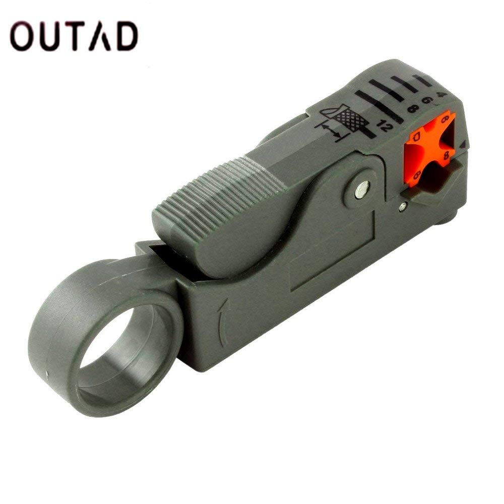 1pc Coaxial MultiFunction Cable Stripper/Cutter Tool Rotary Coax Stripper for RG59/6/58 Network Tool Brand New