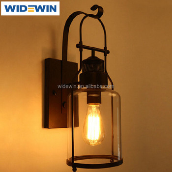 Edison Vintage Wall Mounted Decorative Lights Clear Gl Lamp