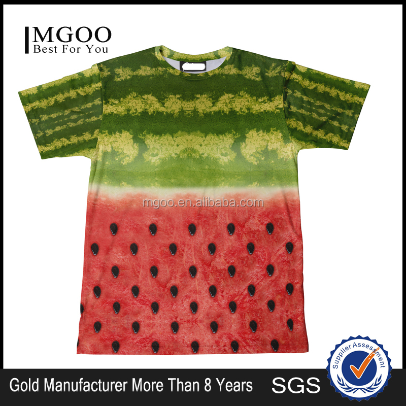 Summer Fruit Print T Shirts Water Melon Printing Clothing Manufacturer Cheap Mass Production T Shirts