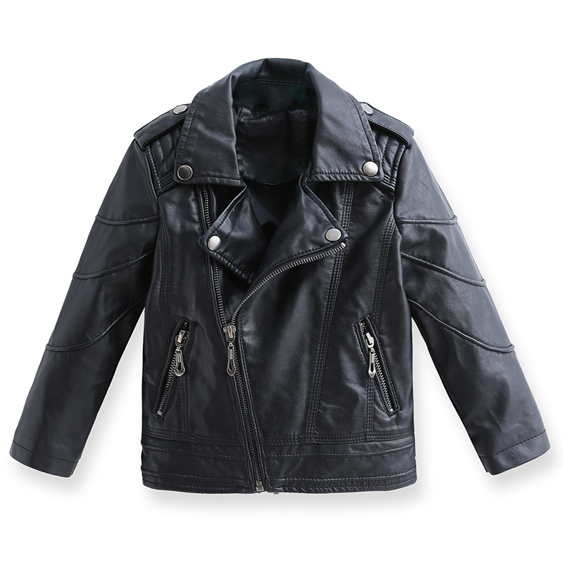 Autumn boy lapel fashion imitation embossed leather jacket coat baby motorcycle jackets baby boys leather jacket children bolero