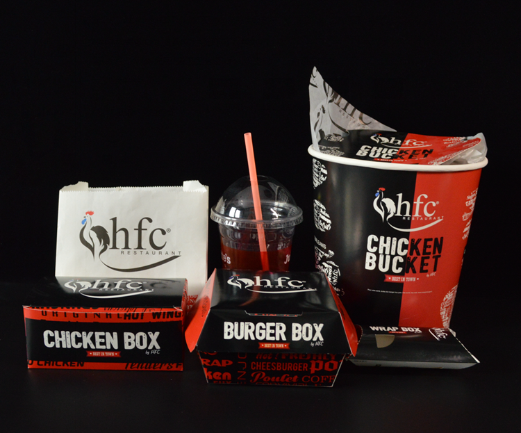 Customize Fast Food Packaging Take Away Fired Chicken Paper Box