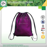 Economic mesh cotton drawstring bag