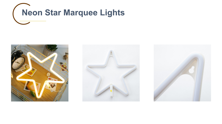 Wholesale LED Star Light for Home Decor 3-AA Battery Powered Neon Signs