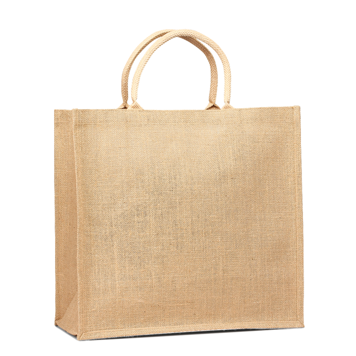 fashion jute tote bag with leather handles