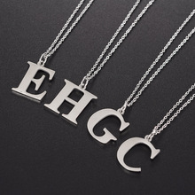 316L Cheap School Students 26 English Letters Alphabet A C E H R Stainless Steel Pendant Necklace