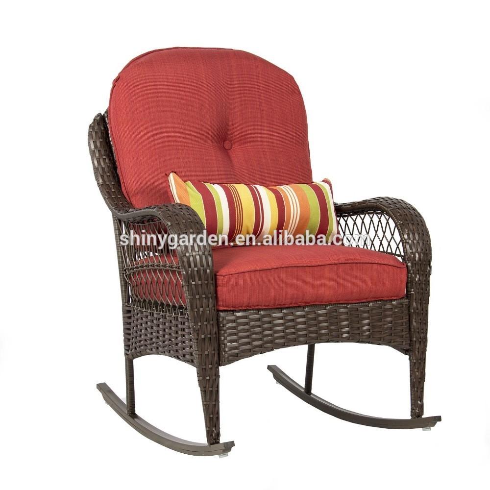 Kussen Voor Rotan Schommelstoel.Outdoor Rieten Schommelstoel Rotan Ligstoel Met Kussens Voor Ouderen