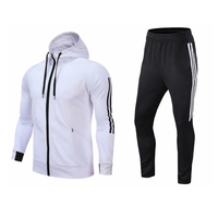 Canada white and black custom cheap soccer pattern tracksuit