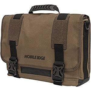"MOBILE EDGE MEUME9 14.1"" PC/15"" MacBook(R) Ultrabook(TM) Eco-Friendly Messenger Bag (Olive)"