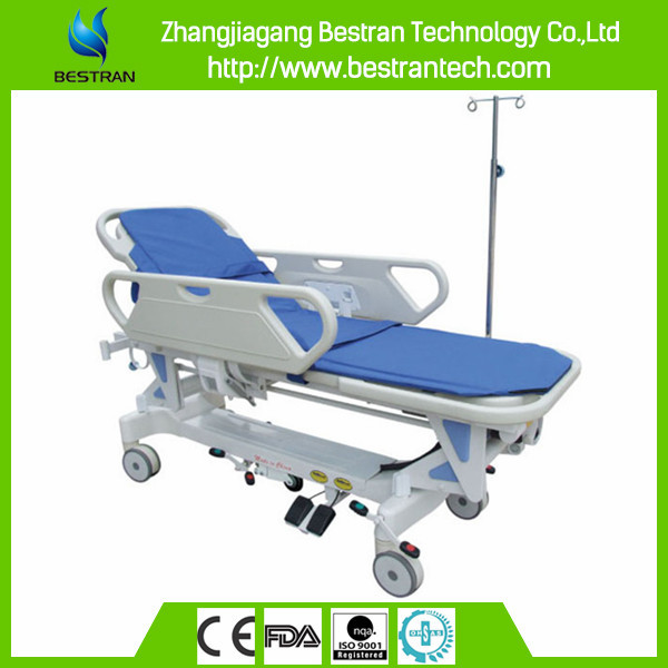 Chinese BT-TR009 electric transport stretcher hospital transfer cart patient gurney emergency trolley bed