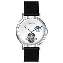 Top quality transparent mens moonphase automatic watch