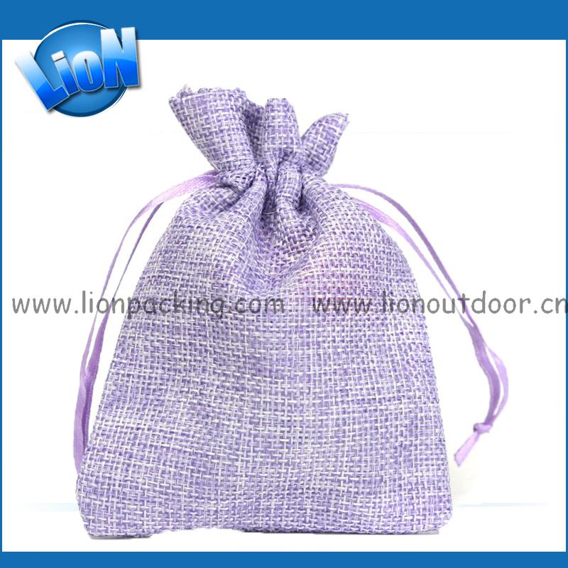 bolsa de joyas de yute natural cordn joyera bolsa de arpillera