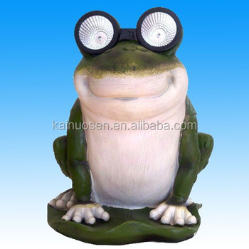 Resin Frog Shape Solar Garden Lights