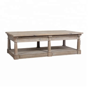 reclaimed wood center cocktail coffee table in natural wood finish