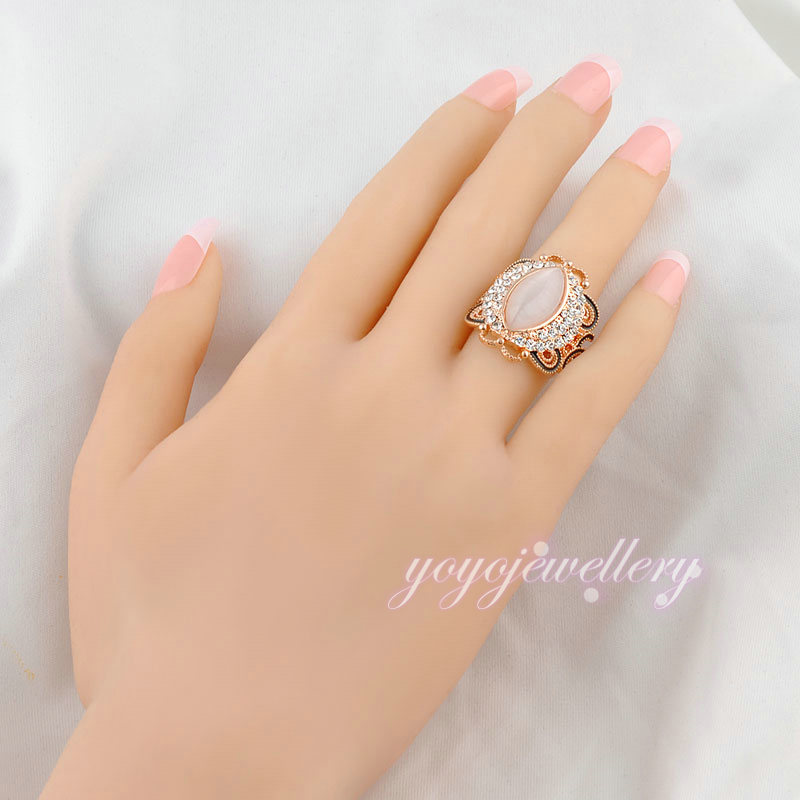 wholesale fashion jewelry new design ladies gold single stone ring ...