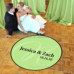 Custom sticker printing personalized wedding dance floor decals