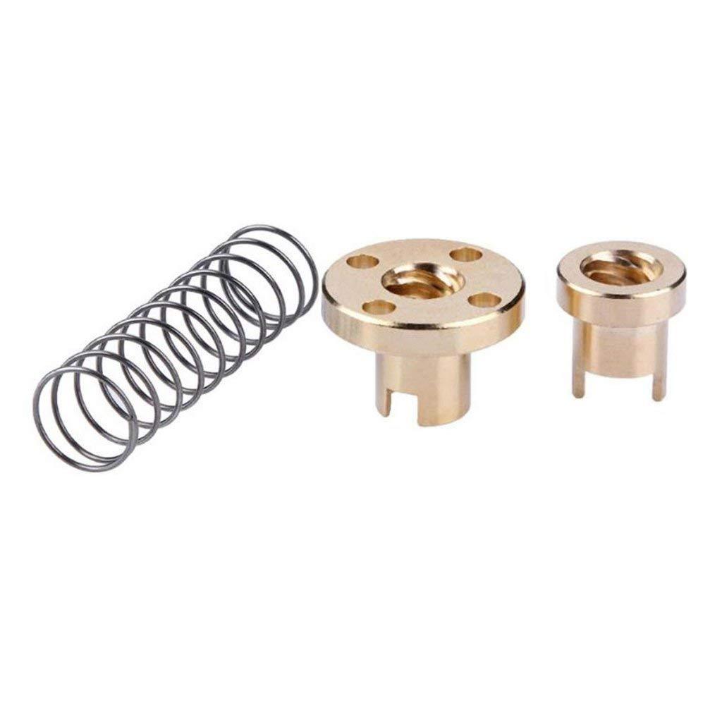 Fenteer T8 Anti-backlash Brass Nut For 8mm Lead Screw CNC Trapezoidal Threaded Rod