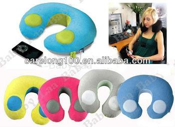 U shape Neck Rest Travel Music Pillow MP3 Speaker musical