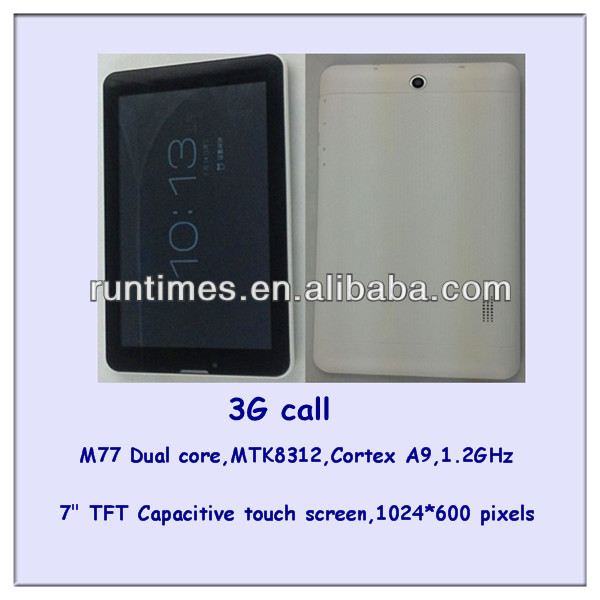 7inch Allwinner A23 tablet pc Android 4.2 Dual core built-in 3G NFC bluetooth Post tablet pc