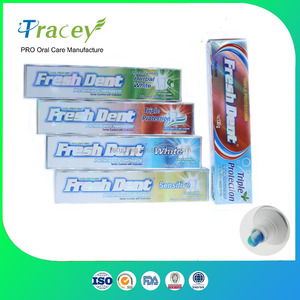 OEM cheap Private Label brand Fluoride Whitening Toothpaste MANUFACTURE