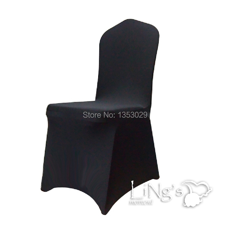 Cool Wholesale High End Black Color Spandex Chair Cover Wedding Party Hotel Banquet Lycra Spandex Chair Covers For Decorations Wedding Linen Rental Wing Bralicious Painted Fabric Chair Ideas Braliciousco