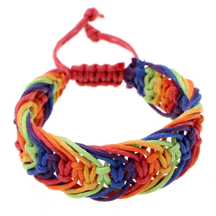 Get Quotations Reatail Brand Charm Bracelets Bangles Rainbow Pride Color Bracelet For Women And