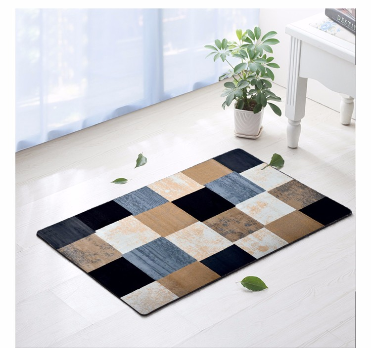 Custom Door Area Washable Rug Floor Advertising Mat