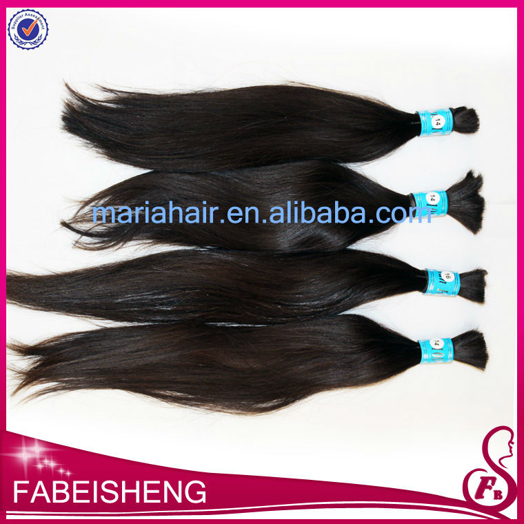 Top grade!Grade 5A, unprocessed wholesale virgin brazilian hair,100% human hair braiding hair