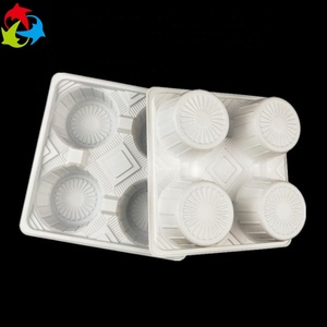 Factory Price 4 Compartments White Blister Plastic Cup Holder Tray