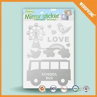 08-0009 Office supplies modern decorative bathroom defogger glass mirror sticker