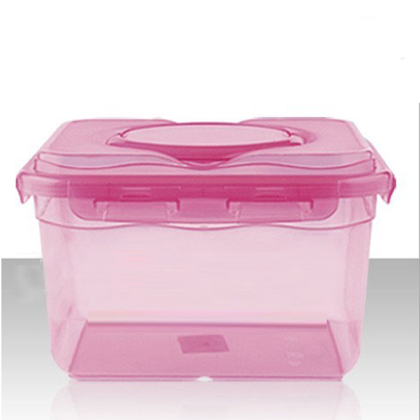10l Clear Plastic Food Storage Box With Dividers And Handle Whole Air Container