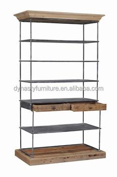 industrial furniture vintage bookstore metal library bookshelves - Metal Library Bookshelves