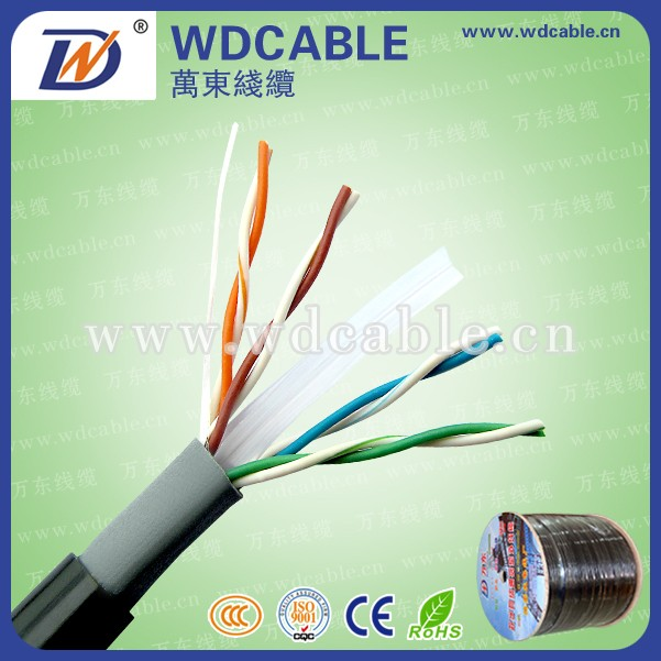 UTP Cat6 Best Selling Outdoor Bulk Cable 24 AWG BC+CCA 4 Pairs